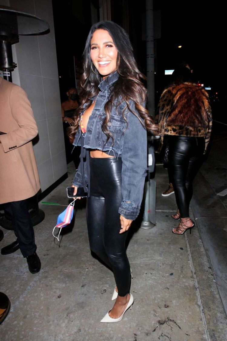 Pretty CJ Franco Arrives At Catch LA In West Hollywood