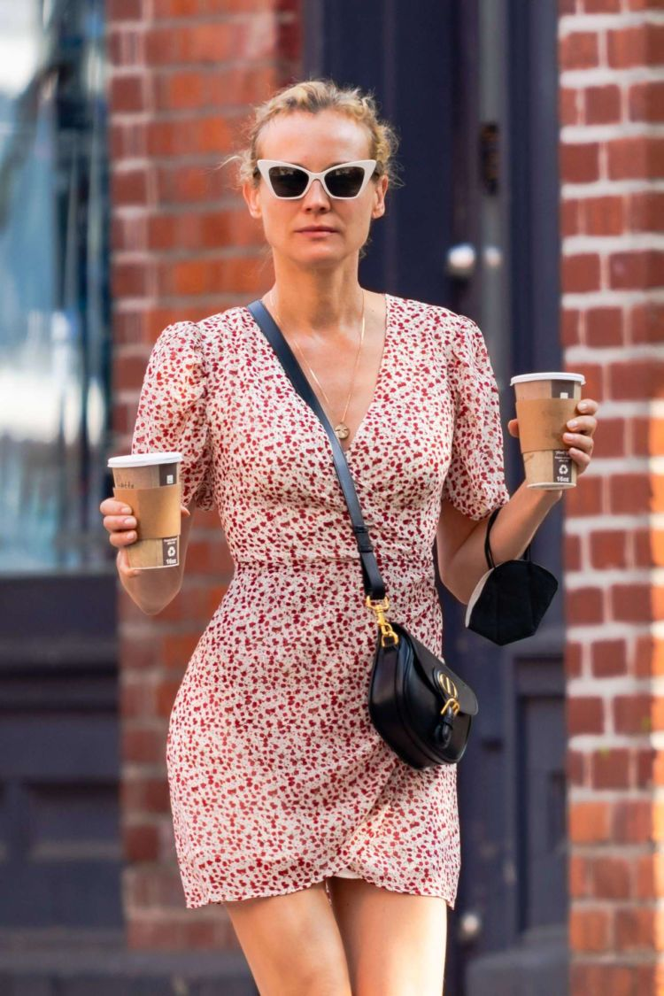 Diane Kruger Goes Out With A Friend In NYC