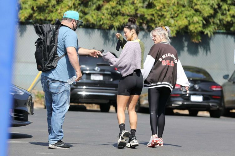 Fitness Freak Vanessa Hudgens Candids In Tights At The Gym