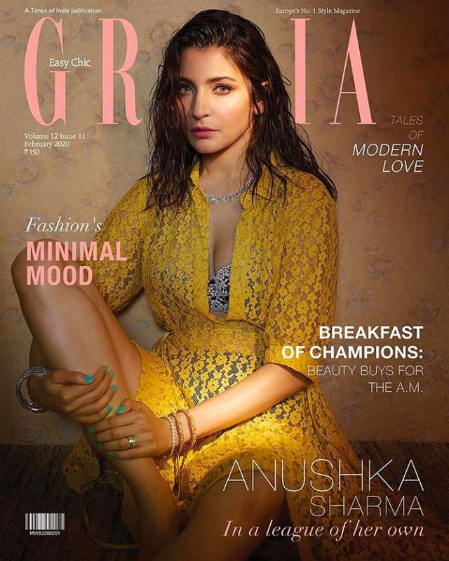 Anushka Sharma Covers Grazia Magazine - February 2020