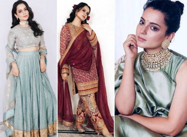 Kangana Ranaut In Traditional Outfits At Her Brother's Wedding