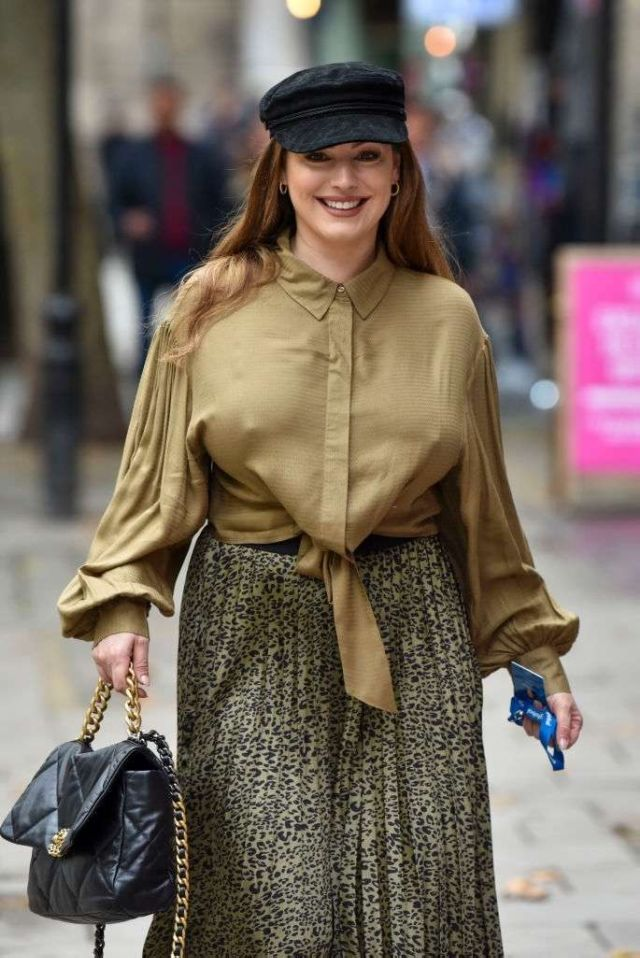 Gorgeous Kelly Brook At Heart Radio In London