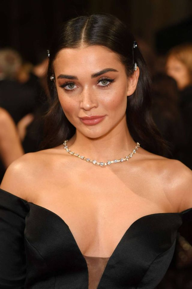 Amy Jackson In A Black Gown At 71st British Academy Film Awards