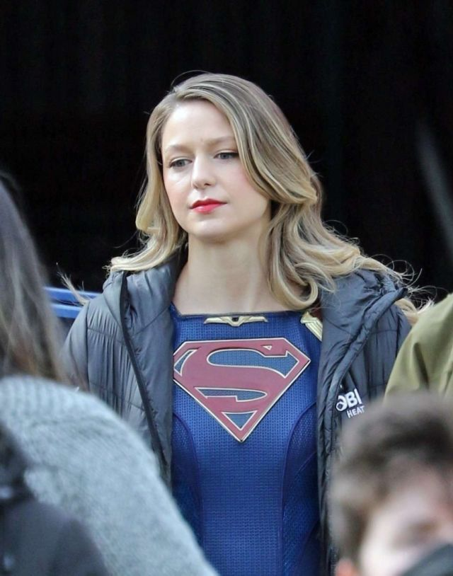 Melissa Benoist Spotted On The Set Of 'Supergirl' In Vancouver