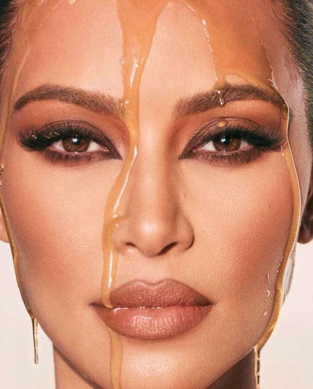 Kim Kardashian Bathing In Honey For Her Latest Photoshoot