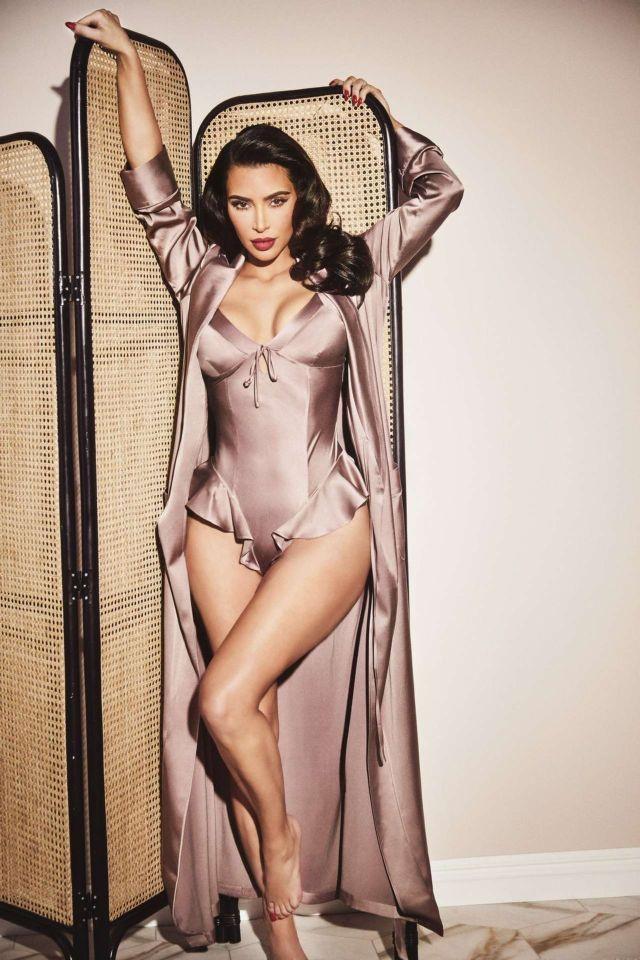 Kim Kardashian's Awesome Photoshoot For Skims Silk 2021