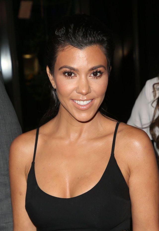 Kourtney Kardashian Poses At The Syrian American Medical Society Benefit Event