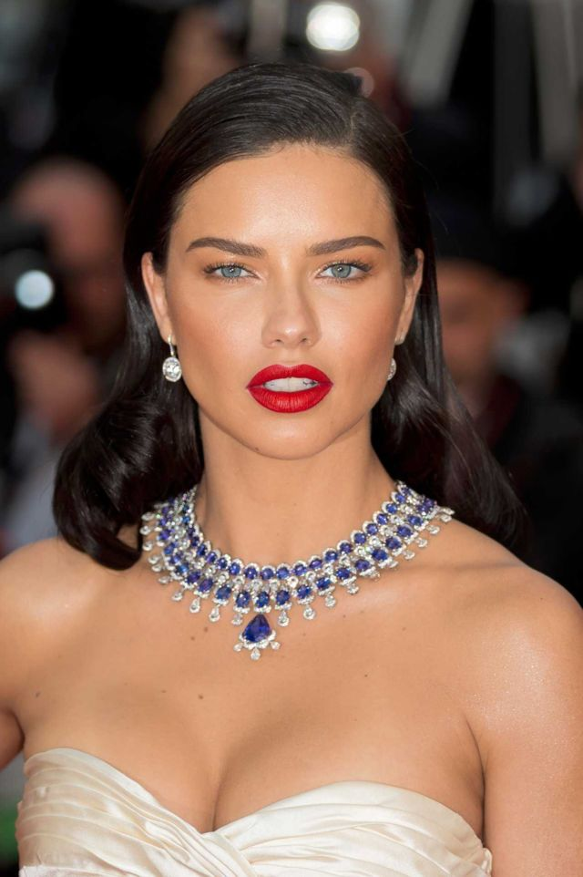 Adriana Lima Posing At The Premiere Of 'Burning'