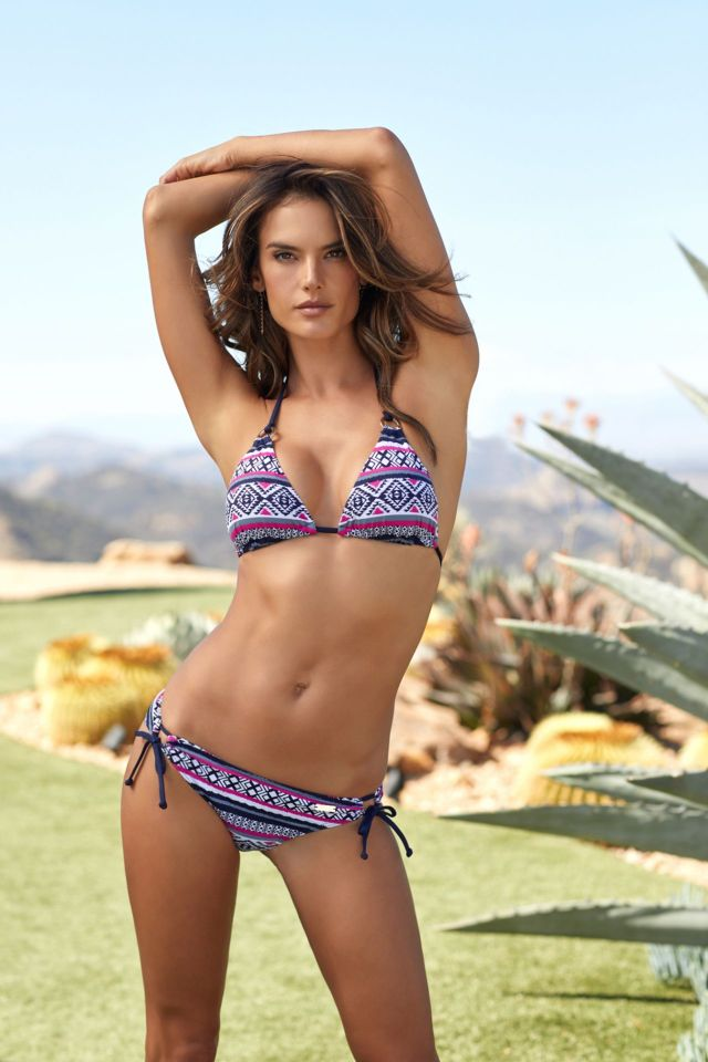 Alessandra Ambrosio's Awesome Swimwear Shoot for LASCANA