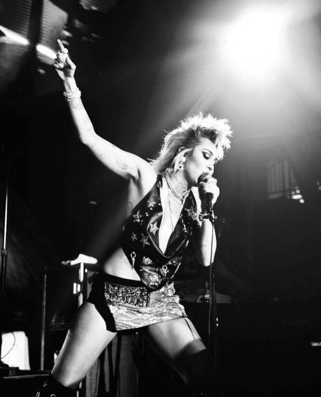 Miley Cyrus Rocks The Stage At Resorts World Las Vegas