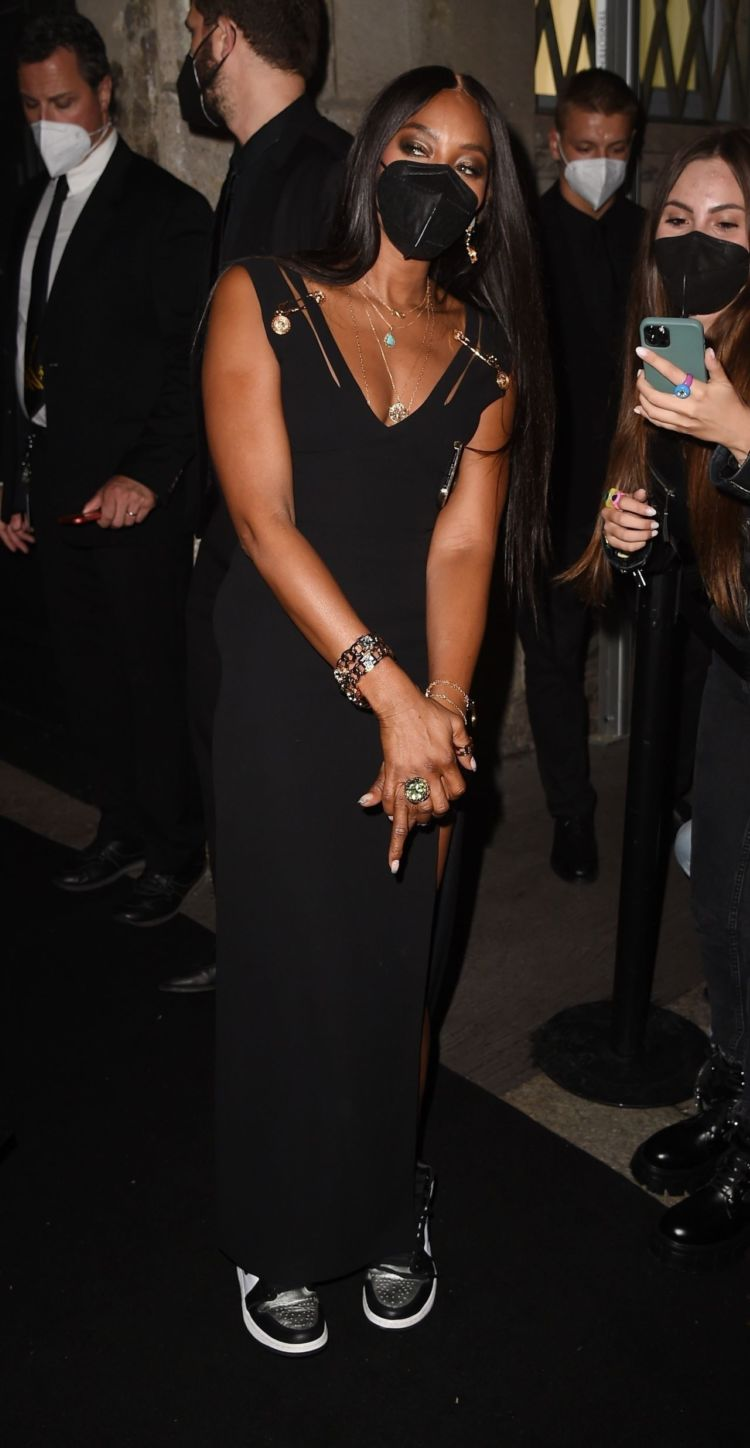 Naomi Campbell Attends Fendace Afterparty At Milan Fashion Week