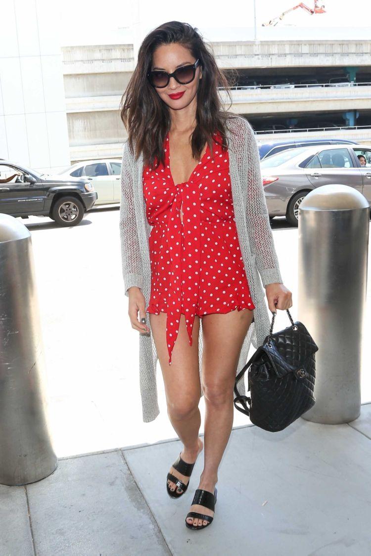 Olivia Munn Candids At The LAX Airport