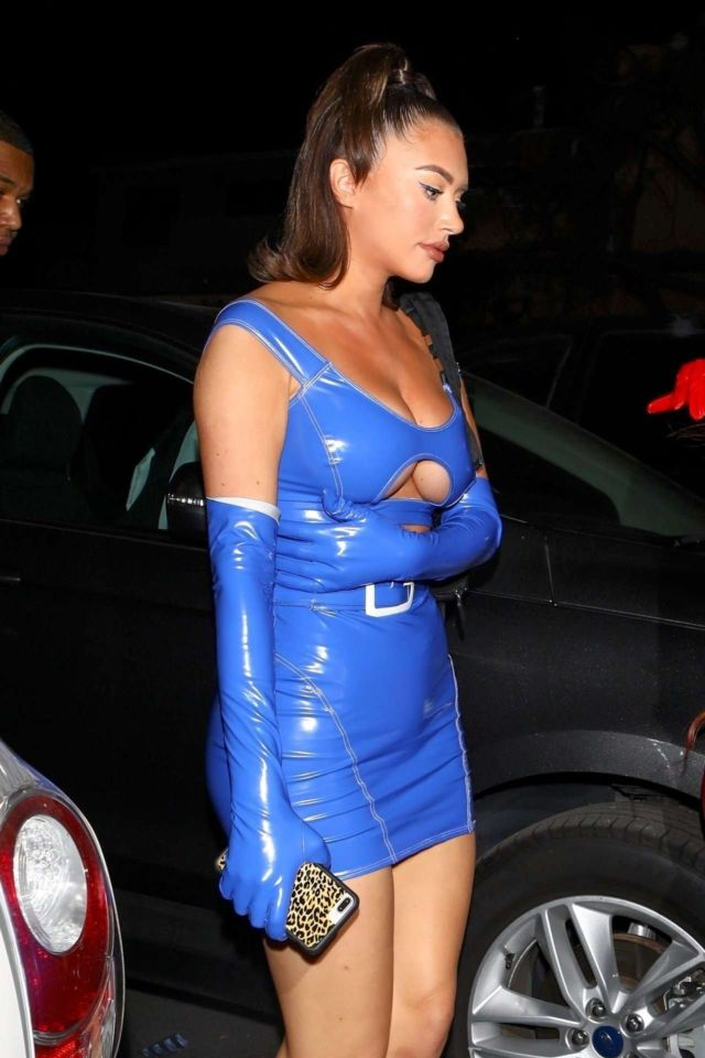 Anastasia Karanikolaou Shines In Blue At Delilah Nightclub