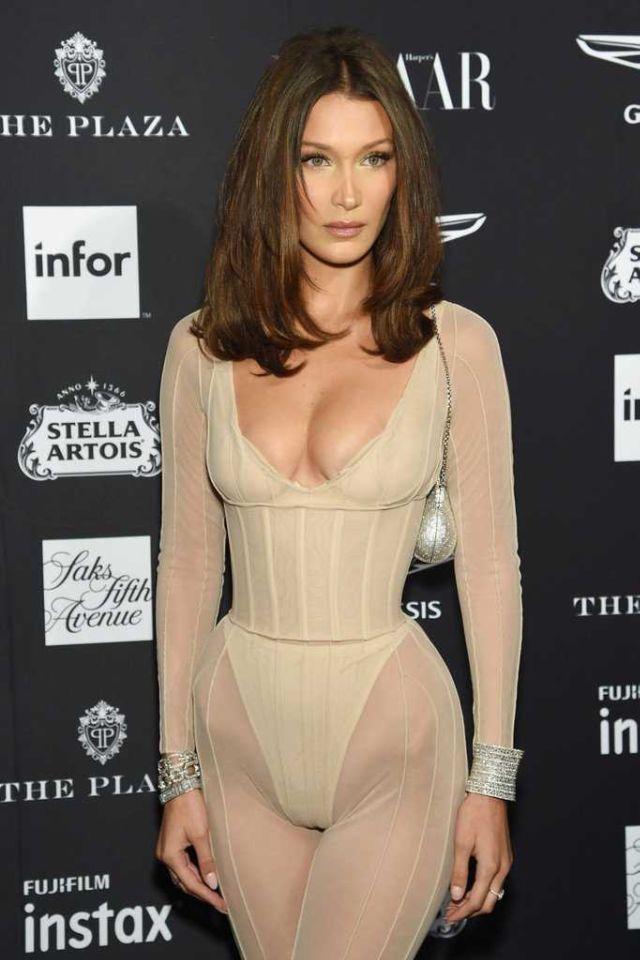 Bella Hadid Attends Harpers Bazaar Icons Event