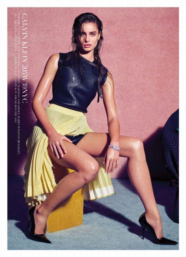 Taylor Hill Shoots For Harper's Bazaar Australia Magazine March 2019