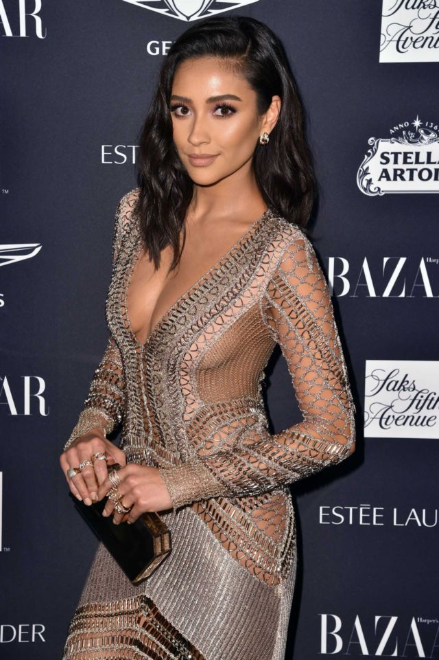 Gorgeous Shay Mitchell Attends Harper's Bazaar ICONS Party