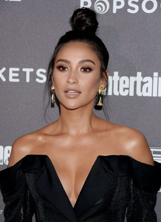 Shay Mitchell Shines In Black At Entertainment Weekly SAG Awards Pre-Party