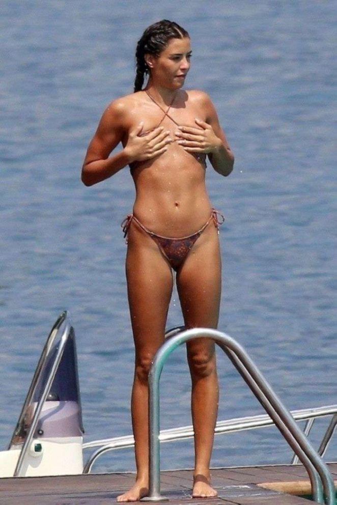 Philine Roepstorff Having Fun In A Bikini On A Yacht In Tremezzo
