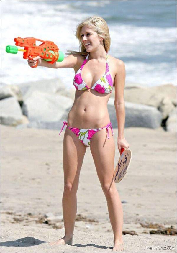 Heidi Montag in Floral Bikini
