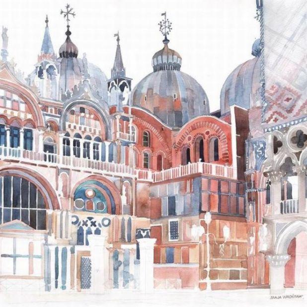 Polist Artist Makes Wonderful Venice Paintings