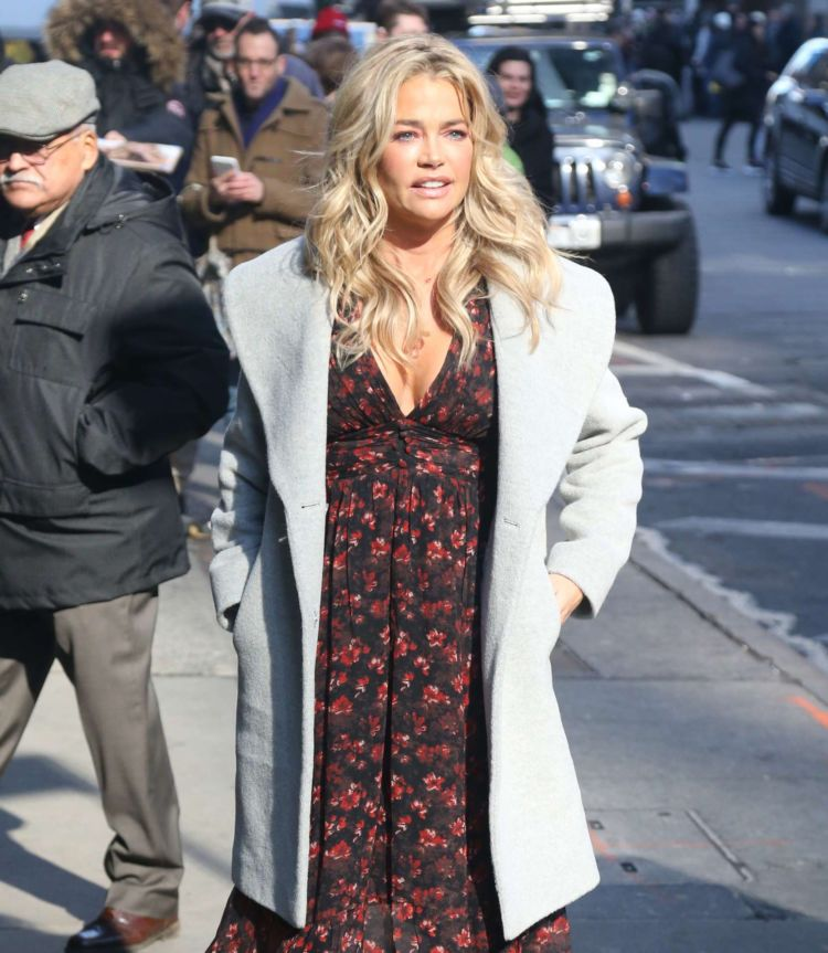 Denise Richards Outside The 'Good Morning America' In NYC