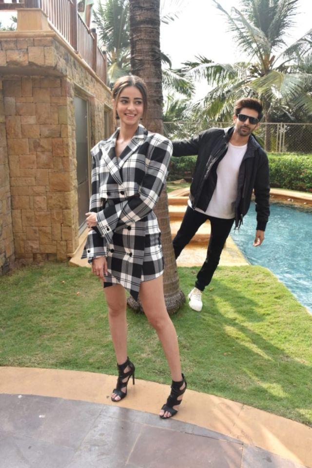 Ananya Panday And Bhumi Pednekar Promoting Their Upcoming Film 'Pati Patni And Woh'