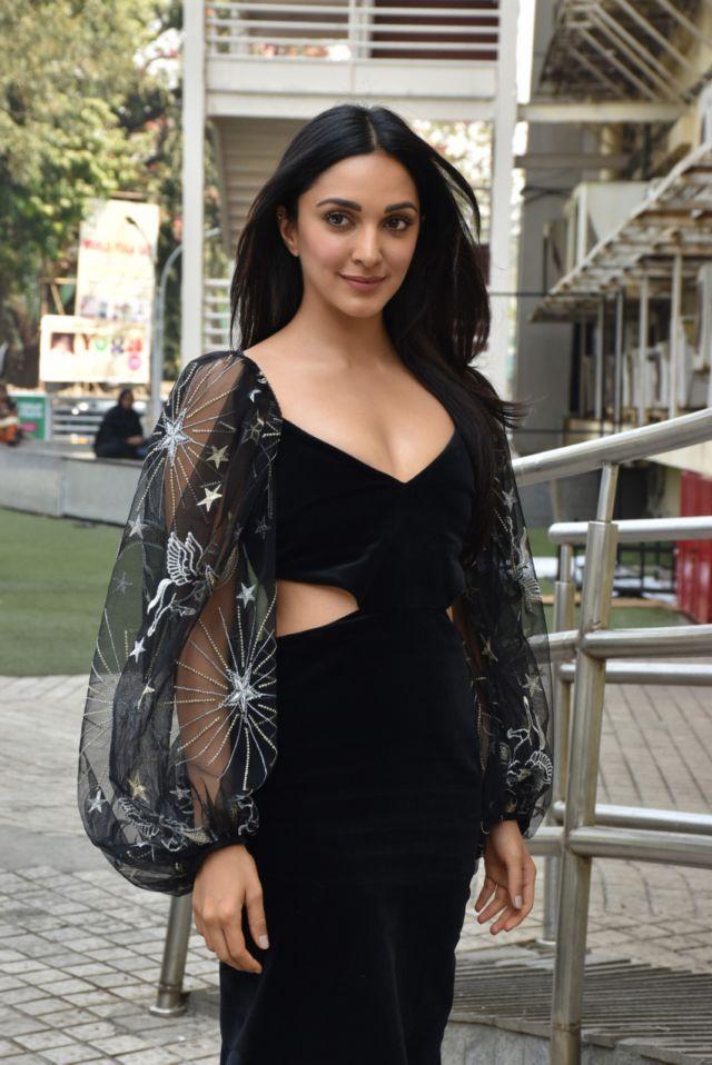 Kiara Advani Looked Impressive In A Black Dress