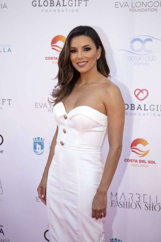 Gorgeous Eva Longoria Attends Marbella Fashion Show During Global Gift Philanthropic Weekend