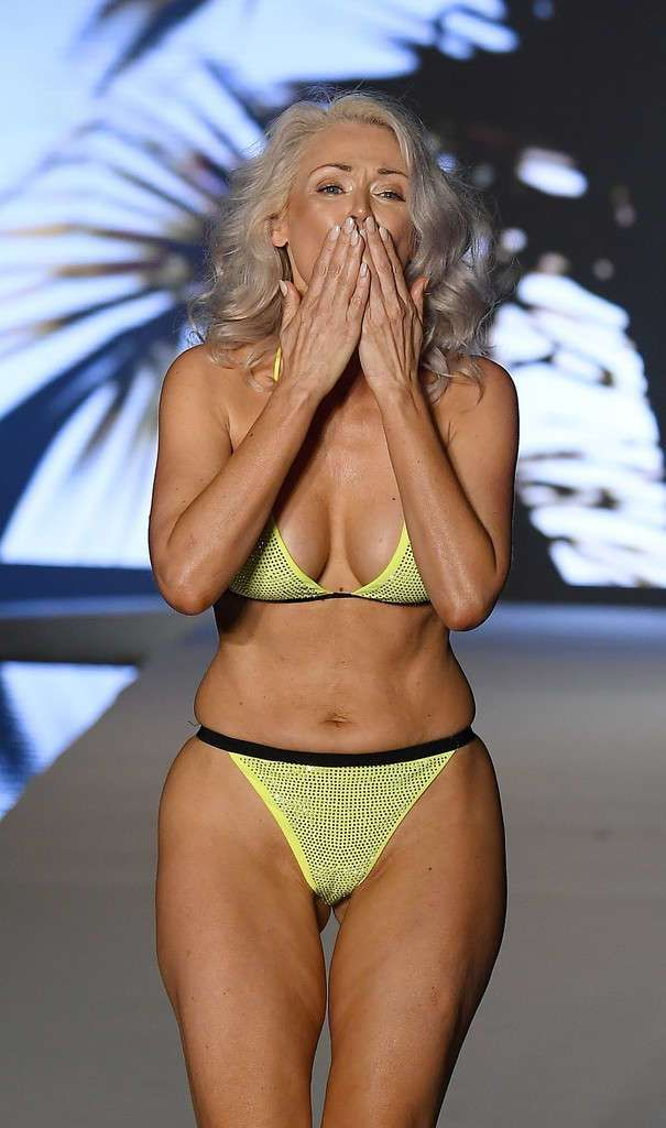 Kathy Jacobs At The Sports Illustrated Swimsuit Runway Show At Miami Swim Week 2019