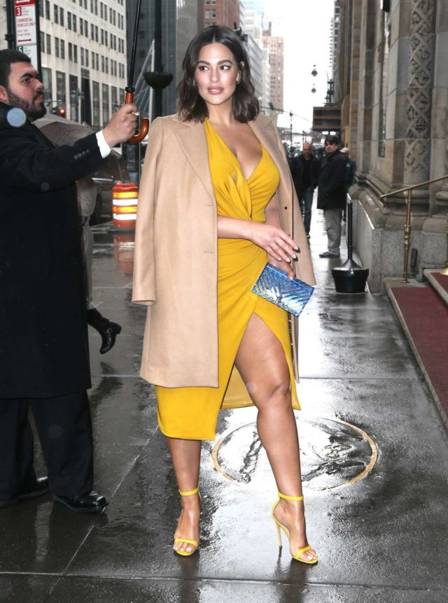 Ashley Graham Out On A Rainy Day In New York City