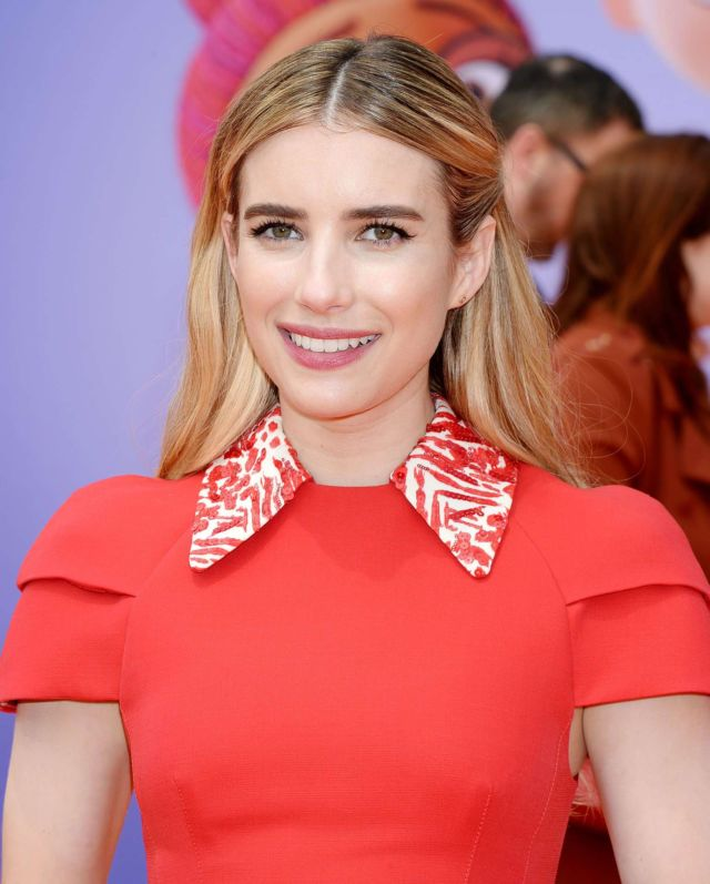 Emma Roberts Shines In Red At The 'UglyDolls' Premiere In LA
