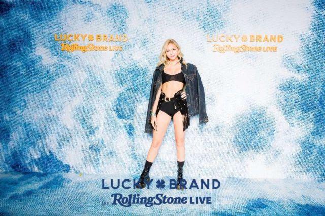 Jordyn Jones Shoots For Lucky Brand And Rolling Stone Live Desert Jam In Palm Springs