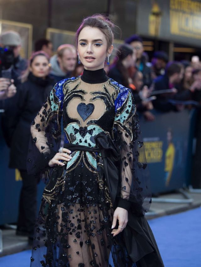 Lily Collins Shines At The Premiere Of 'Extremely Wicked, Shockingly Evil And Vile' In London