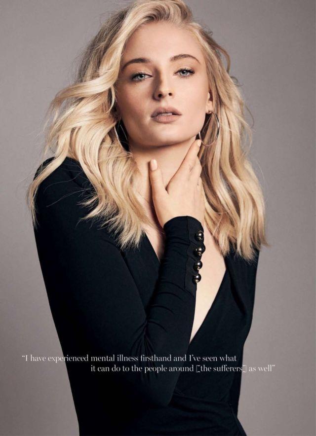 Sophie Turner Glams Up Marie Claire Australia Magazine