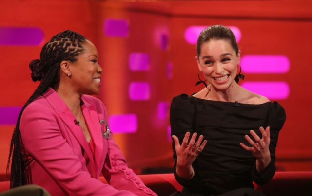 Emilia Clarke, Camila Cabello And Regina King Together On 'The Graham Norton Show'