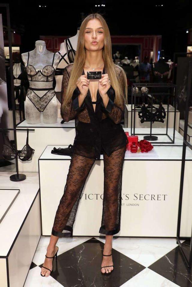 Josephine Skriver Attends Victoria's Secret Celebrates New Fall Collection In Natick, Massachusetts
