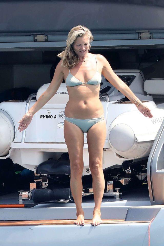 Kate Moss In A Bikini On A Yacht In St Tropez