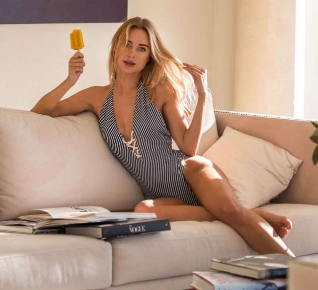 Kimberley Garner Showcasing Monroe Swimwear Collection 2019