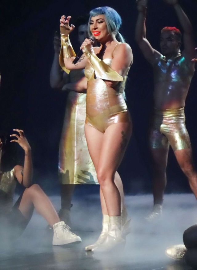 Lady Gaga Heats Up The Stage At The Park Theater In Las Vegas
