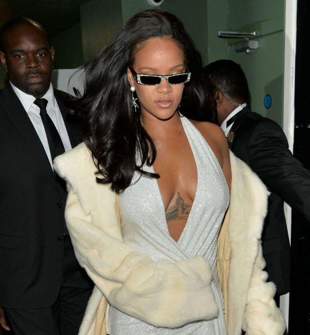 Rihanna Arrives At The Annabells Mayfair In London