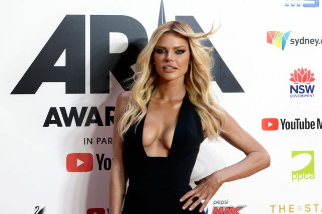 Sophie Monk Poses In Black At ARIA Awards 2019