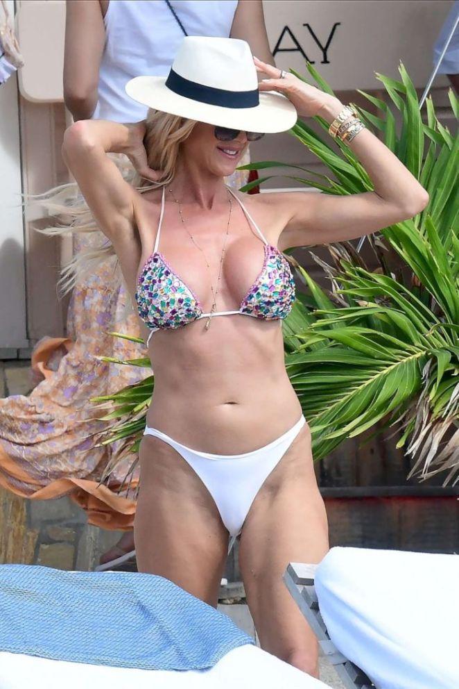 Victoria Silvstedt Candids In A Bikini In St Barts