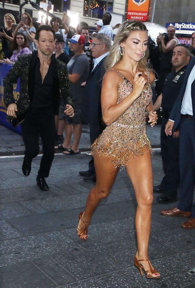 Daniella Karagach Arriving At The Good Morning America