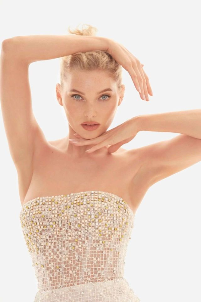 Elsa Hosk Shoots For Enchant In Nicole + Felicia Couture Campaign 2019
