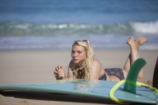 Lucie Donlan Poses In Style For A Surfwear Photoshoot In Fuerteventura