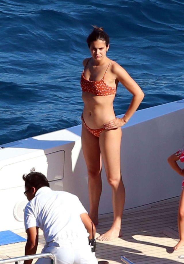 Sara Sampaio In A Bikini On Yacht In Capri