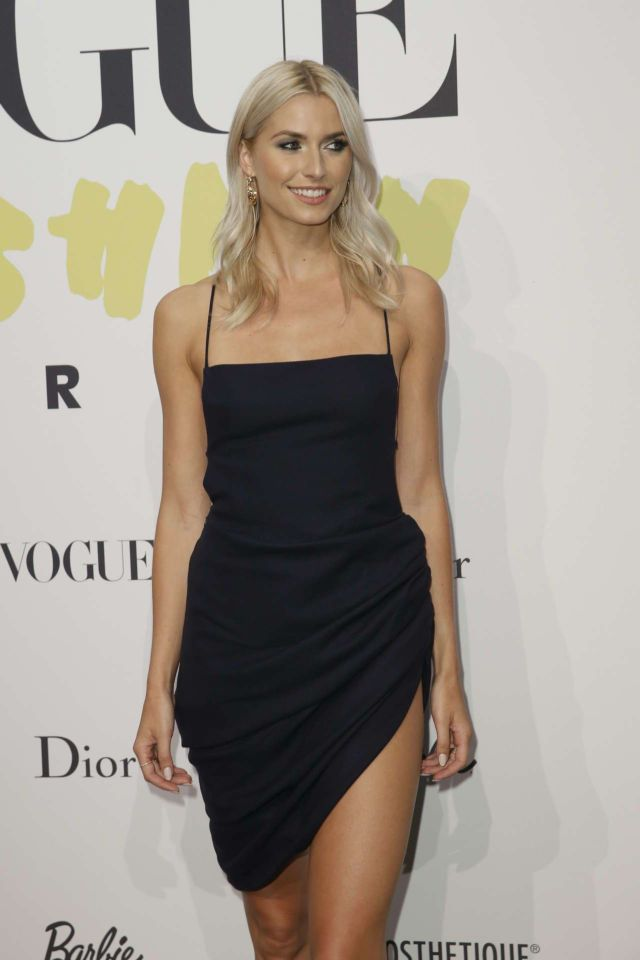 Lena Gercke Attends Vogue 40 Years Celebration Party