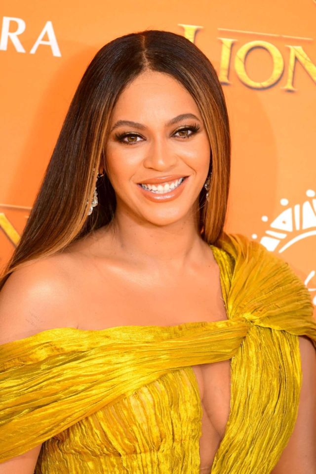 Beautiful Beyonce Attends The European Premiere Of 'The Lion King' In London