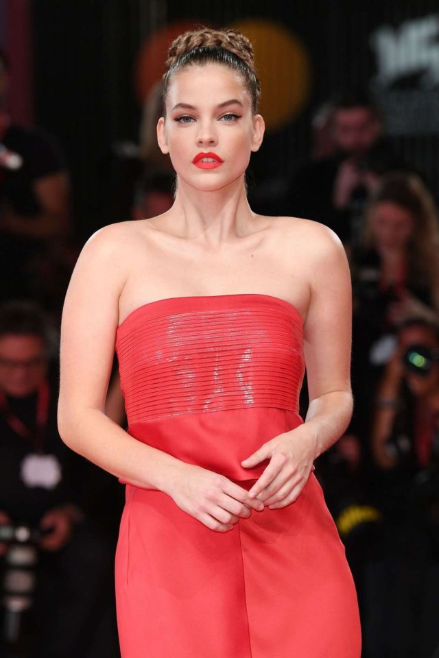 Beautiful Barbara Palvin In A Red Dress At The Screening Of 'Seberg' At Venice Film Festival