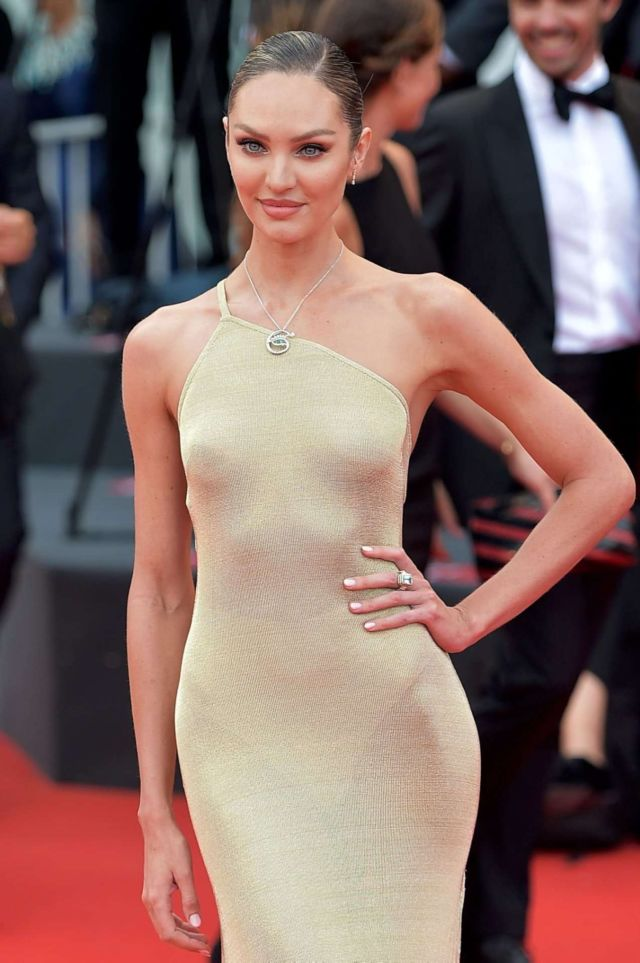 Gorgeous Candice Swanepoel At The Premiere Of 'The Truth' In Venice
